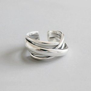 NEW 925 Sterling Silver Infinity Adjustable Ring